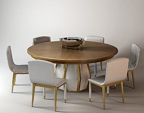 Baker Bezel Dining Table by Laura Kirar 3D