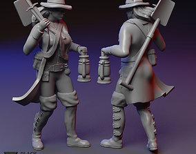 Grave Robber female miniature 3D printable model