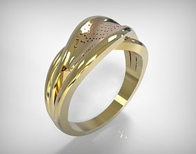 3D print model Jewelry Golden Decorated Ring