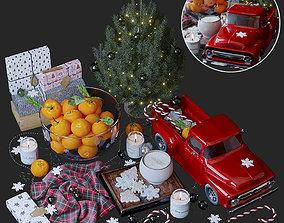 Christmas decoration set 3D