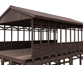 Wood Bridge 3D asset