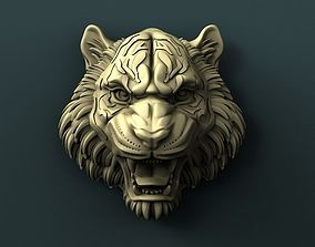 Tiger head 3d stl model for cnc