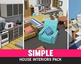 Simple House Interiors - Cartoon realtime