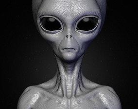 Realistic Alien 8 Sculpt 3D