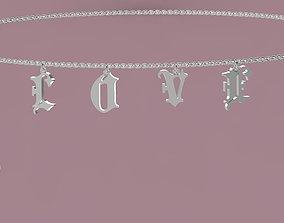 Love Necklace precious 3D print model