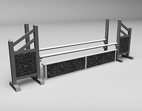 Horse jump obstacle 3D model fence