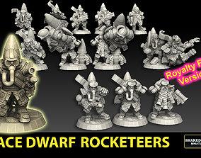 3D print model Space Dwarf Rocketeers ROYALTY FREE VERSION