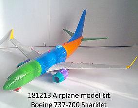3D print model 181213 Boeing 737-700 Sharklet Down