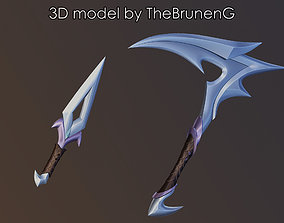 3D print model KDA 2020 Akali prop weapons League of 1