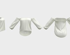 3D asset Off Shoulder Blouse