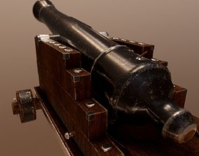 Pirate Canon LowPoly 3D asset