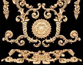 Baroque floral carving 3D