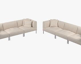 Living Divani ROD Sectional Sofa 2a 3D model