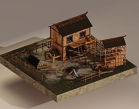 3D asset Sawmill Level 15