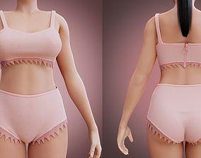 3D female underwear