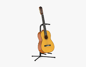 Yamaha Classical Guitar GC12S with Stands 3D model