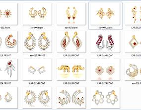26 Artistic Woman Earrings 3dm render details