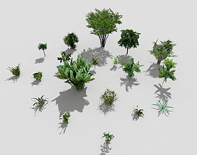 low poly plants collection 3D model realtime