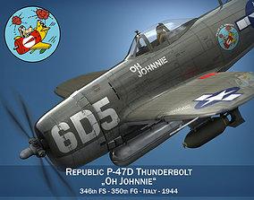 3D model Republic P-47 Thunderbolt - Oh Johnnie