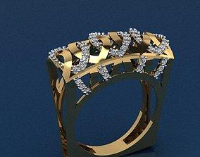 ring sterling Gold Ring 3D print model 3D print model