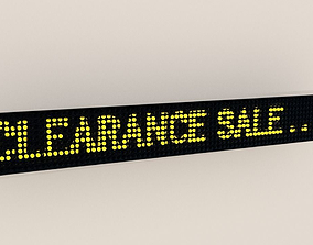 3D model LED Text Display Sign