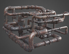 3D Factory Element - Pipe Maze
