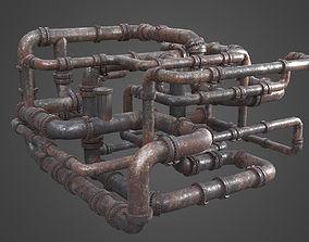 3D Factory Element - Pipe Maze