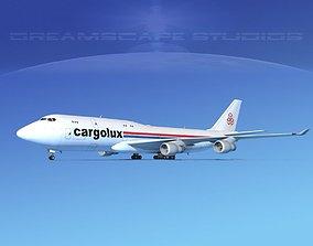 3D Boeing 747-8 Cargolux