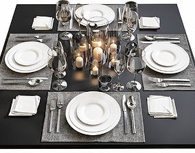 Table setting 14 3D