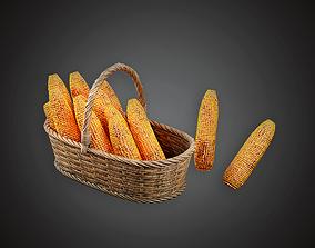 3D model Basket of Corn - MVL - PBR Game Ready