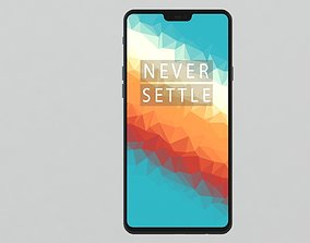 OnePlus 6 3D model phone realtime