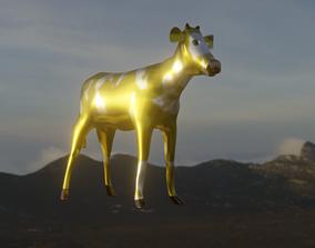 Comic toy golden bull 3D model