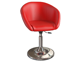luxury 3D red chair