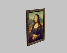 3D Gioconda Monna Lisa By Leonardo Da Vinci