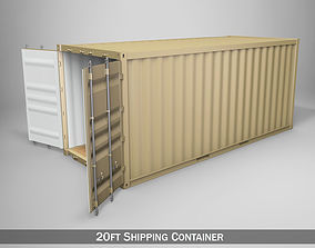 20ft Shipping Container 3D