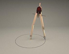 3D model rotring compass