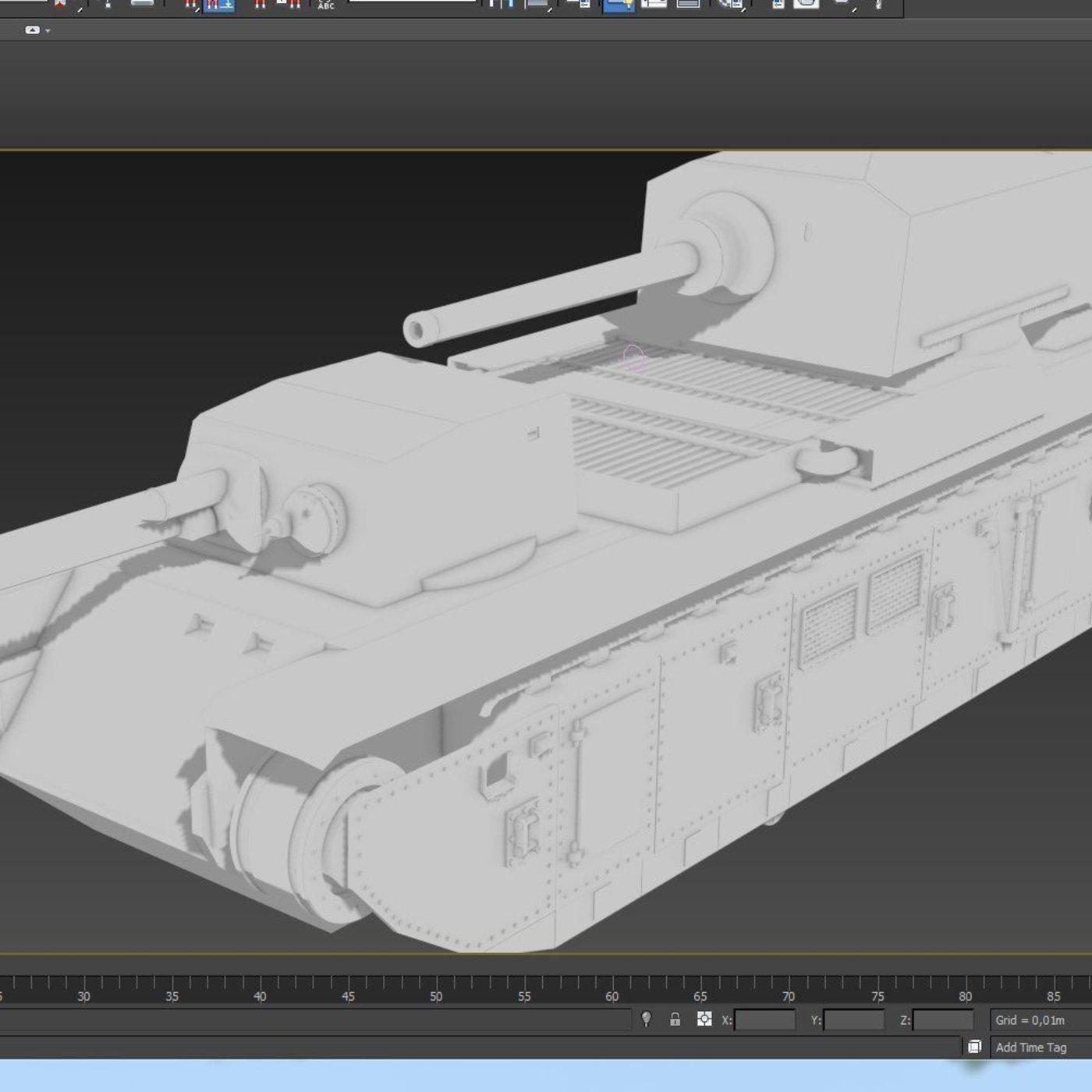 Making France Tank fcm-f1