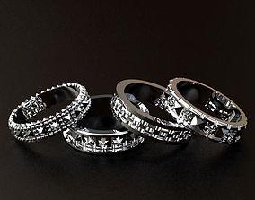 3D printable model Pattern Rings Set