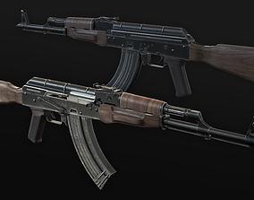 AKM Assault Rifle - Improved AK 47 3D asset
