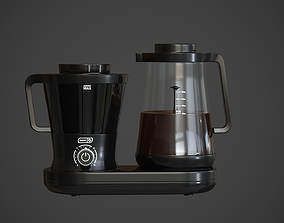3D asset low-poly Dash Rapid Coffe maker