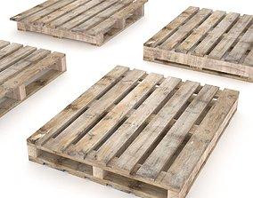 European wood pallet - 02 3D model