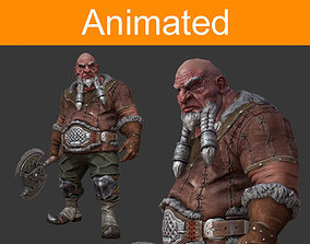 Dwarf warrior 3D model