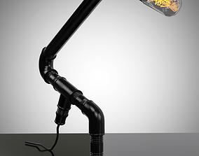 Handmade Pipe Lamp 3D model
