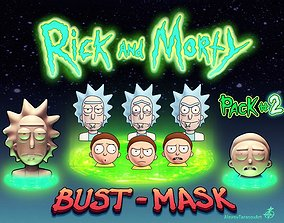 3D printable model Rick and Morty Bust-Mask