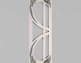 ornament 3D printable model Carved door