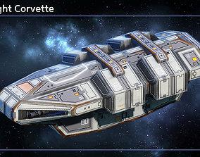 Spaceship Corvettes 3D model
