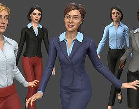 3D asset Modular Business Woman Pack