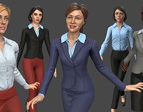 Modular Business Woman Pack 3D asset