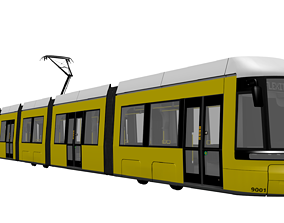 3D asset Bombardier Flexity Berlin Render Model