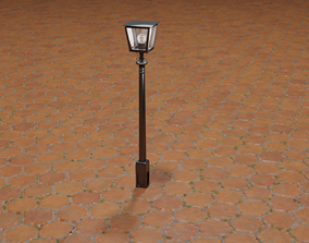 Classic Street Light 3D model